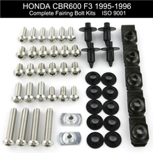 цена на For Honda CBR600 F3 1995 1996 Motorcycle Full Fairing Bolts Kit Covering Bolts Screws Nut Clips Stainless Steel