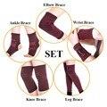 10 unids muñequera magnética banda de pata de apoyo rodillera apoyo de tobillo codo terapia magnética conjunto de alivio del dolor