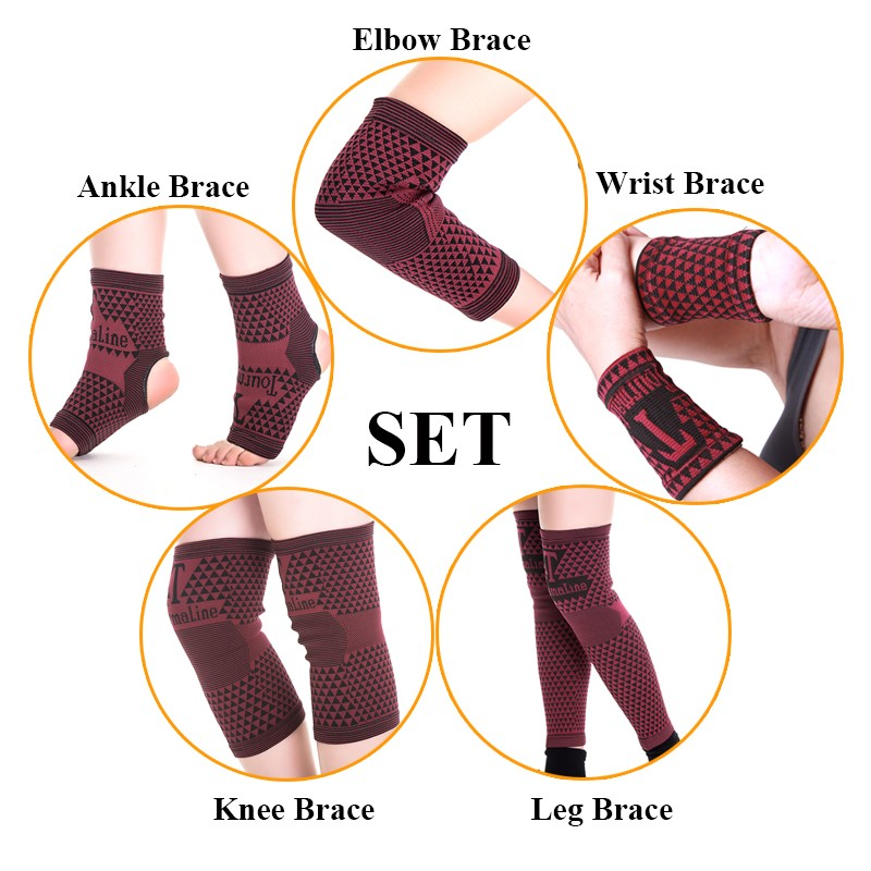 10pcs magnetic wrist band leg support kneepad ankle support elbow band magnetic therapy set pain relief