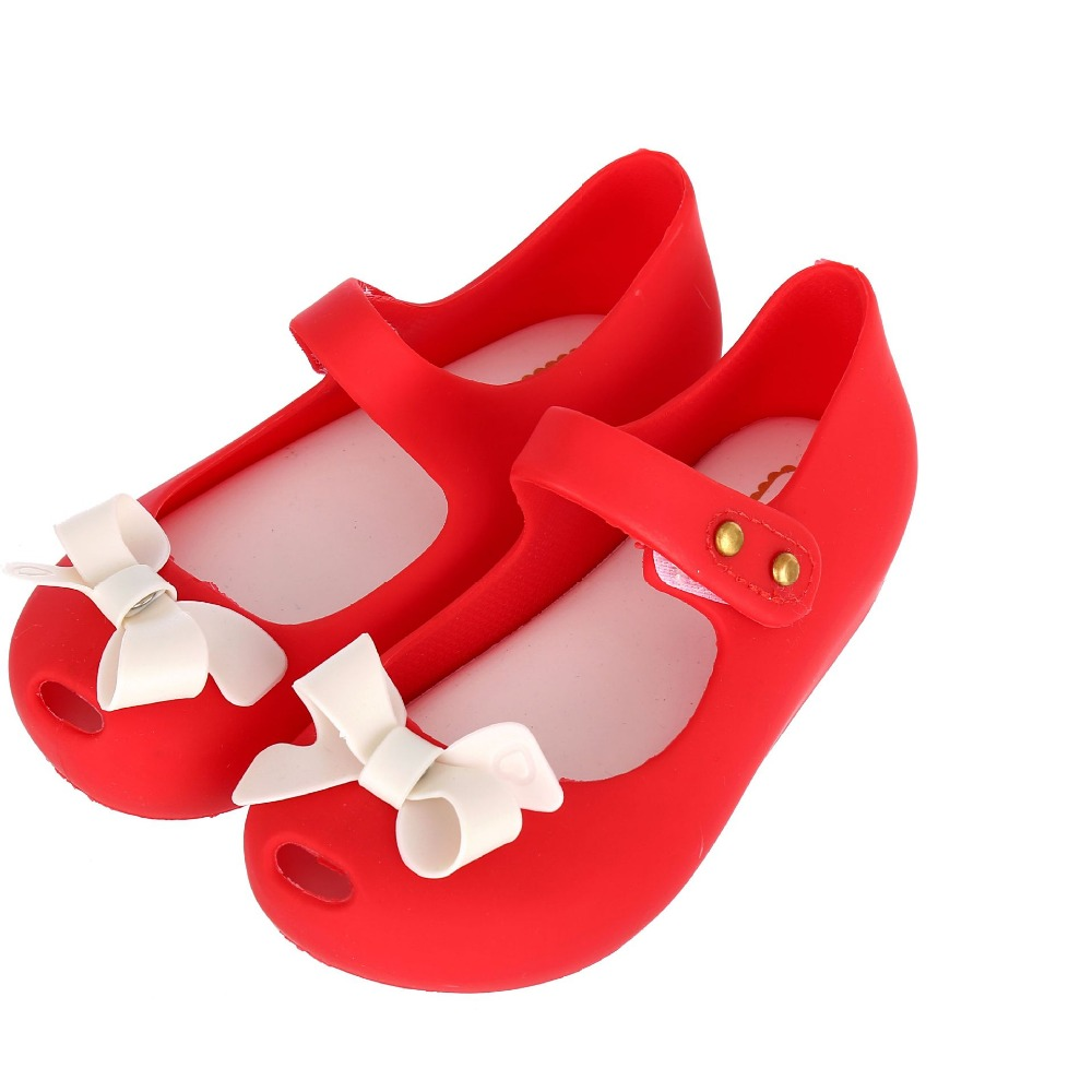 Mini Melissa 2017 New Summer Girls Sandal Cute Bow Girls Elsa Shoes Kids Sandals Soft Flat Shoe Sole Sandalias Sandales