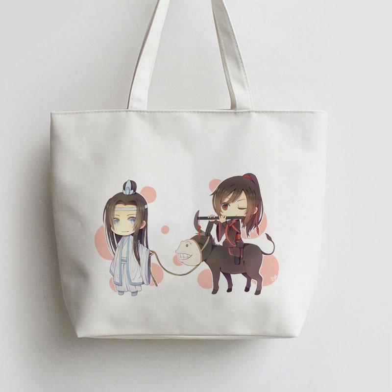 Grandmaster of Demonic Cultivation The Founder of Diabolism Anime Canvas Shopping bag Tote bags Handbag book cartoon Gift AN073