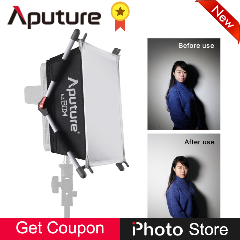 Aputure EZ Box Professional Soft Lighting Easy Softbox Diffuser Kit for Amaran AL-528 HR672 Photography Studio Light Accessories studio ez auto clam