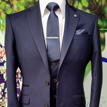 OSCN7 azul oscuro a medida trajes hombres 3 pieza Caballero boda de traje  de hombre Blazer personalizar Terno1613 e6c3958f105