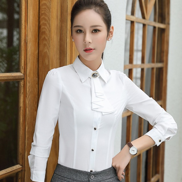 Women Formal Blouse Fashion 2017 Autumn Long Sleeve Blusa Tops Korean Style Female Office Wear Shirts