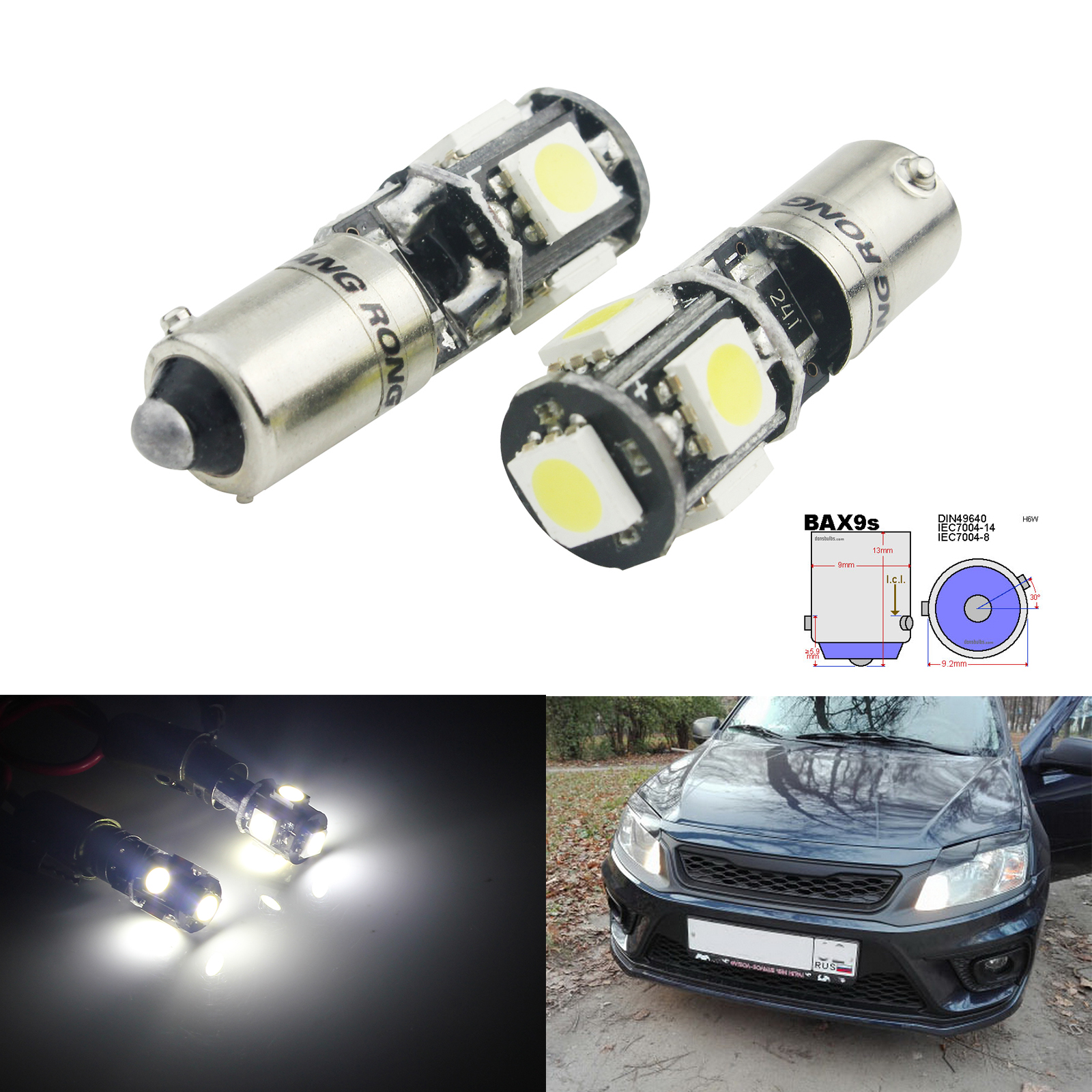 Fits Audi A3 A4-8 LED Canbus Error Free 501 Sidelight Parking Bulbs Xenon Whit