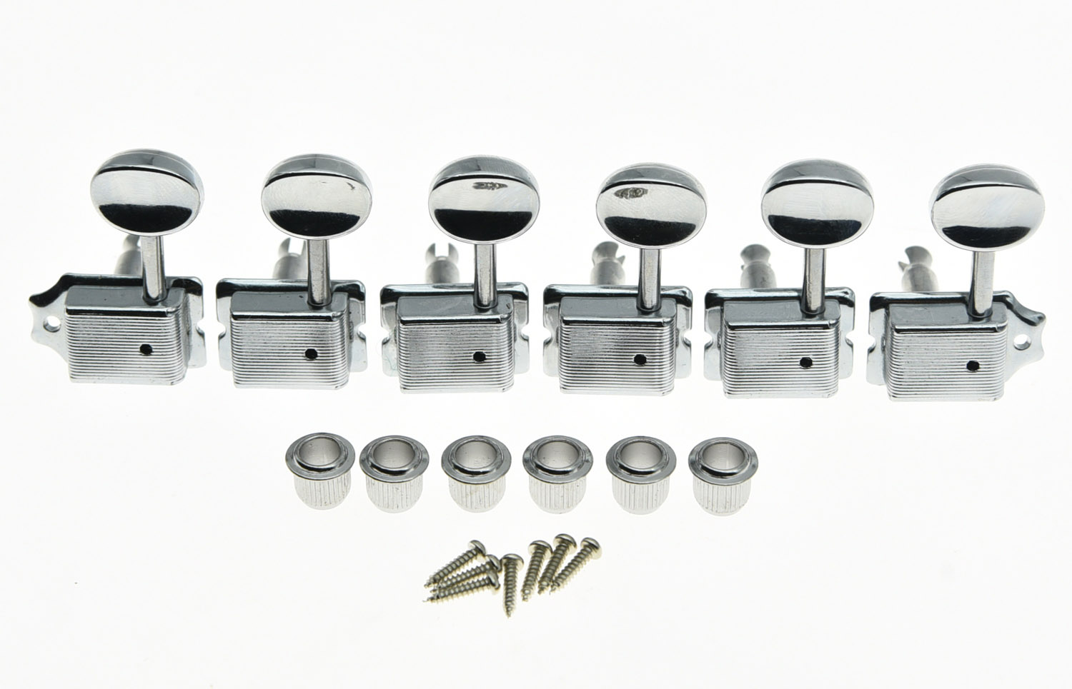 Left Lefty Chrome Vintage Guitar Tuning Keys Tuners Machine Heads for ST TL