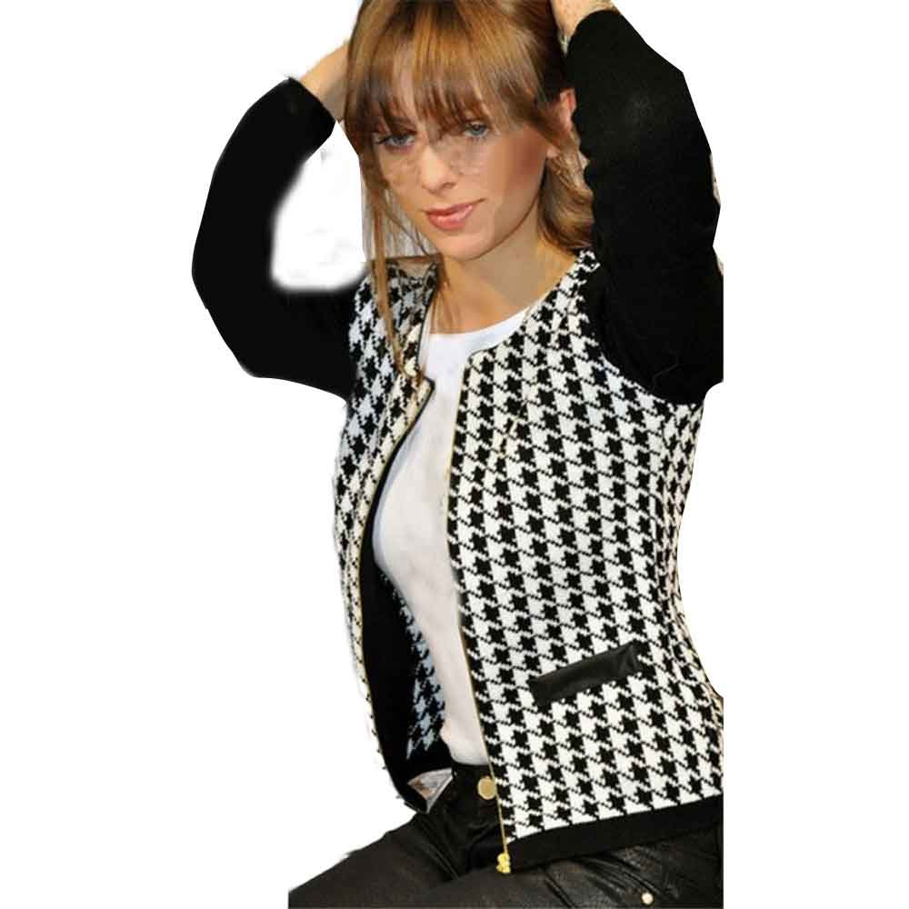 Popular Plus Size Houndstooth Jacket-Buy Cheap Plus Size ...