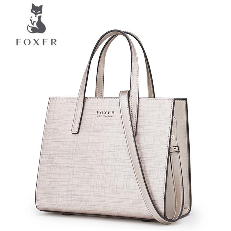 FOXER Women bag Fashion party bag New 2018 Fashion Shoulder Messenger Bag handbag foxer women bag new 2016 fashion shoulder messenger bag embossed chain bag
