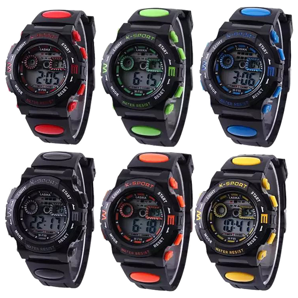 SYNOKE Sport Student Children Watches Boys Girls Clock LED Digital Wristwatch Electronic Waterproof  Alarm WristWatch Gift 7.2