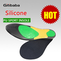 Top Quality 1 Pair PU Sports Insole Gel Silicone Massaging Insole Orthopedic Insole Silicon Plantar Fasciitis Sports Running