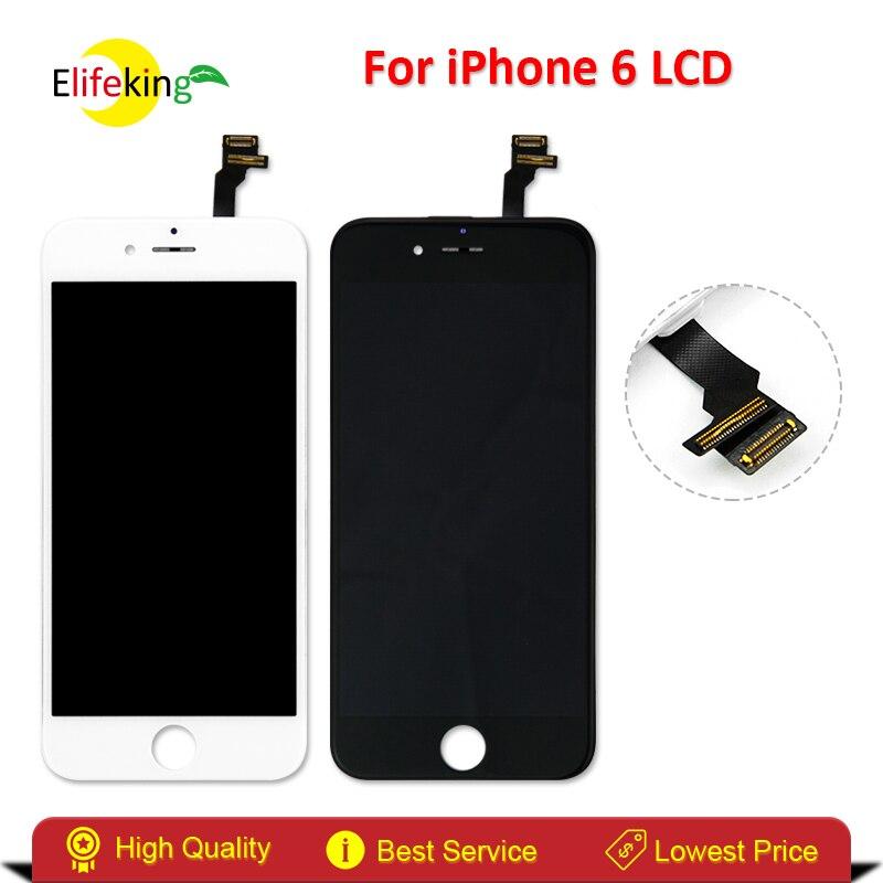 imágenes para 4.7 Inche Elifeking 100% Buena Calidad Para el iphone 6 LCD Asamblea Reemplazo de la Pantalla Táctil Digitalizador Pantalla Envío Rápido