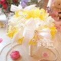 33 colorCrystal жемчуг вырос свадебные украшения букет цветов свадебный букет невесты цветы рамо дама де честь
