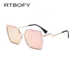 2017 New Brand Women Fashion square sunglasses Women fashion Coating high quality gradual change color Glasses Oculos de sol