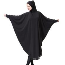 Muslim Maxi Lycra Overhead Khimar Abaya Islamic Headcover Clothes Robe Kimono Instant Hijab Arab Worship Prayer Garment