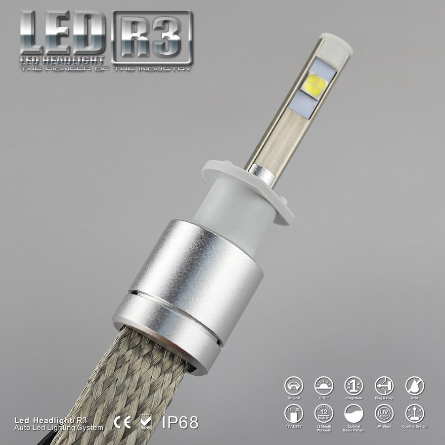 9600lm Led H1 Fara 6000K Ağ Super Parlaq Avtomobil LED fənər - Avtomobil işıqları - Fotoqrafiya 3