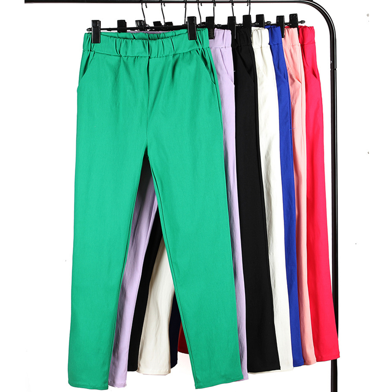 Woman Pants Plus Size  Candy Color Slim Trousers Skinny Big Stretch Pencil Womens 5XL