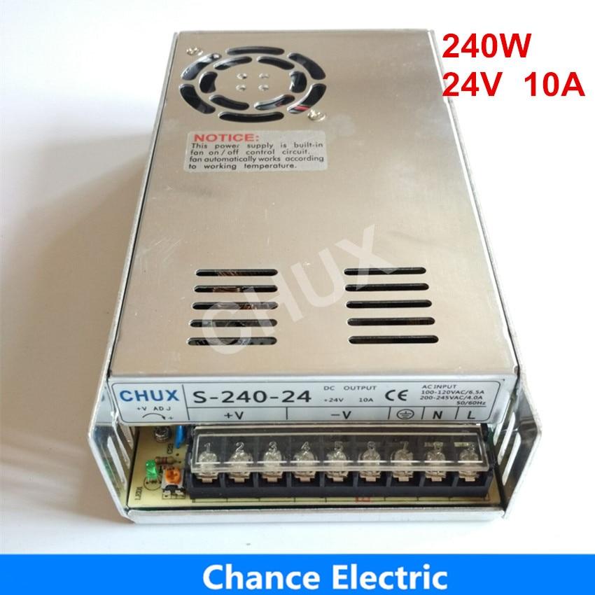 24 volts alimentation pour Bande LED livraison gratuite 110 v 220 v AC à 24 v DC 10A 240 w à sortie unique 24 v Alimentation à découpage