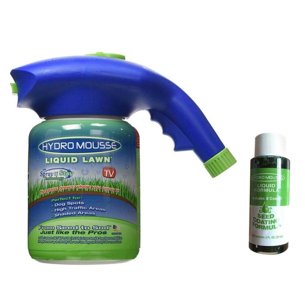 Kunststoff Gießkanne Gras Samen Sprayer Hause Garten Rasen Hydro Mousse Haushalt Hydro Aussaat System Flüssigkeit Spray Gerät + 1 flüssigkeit