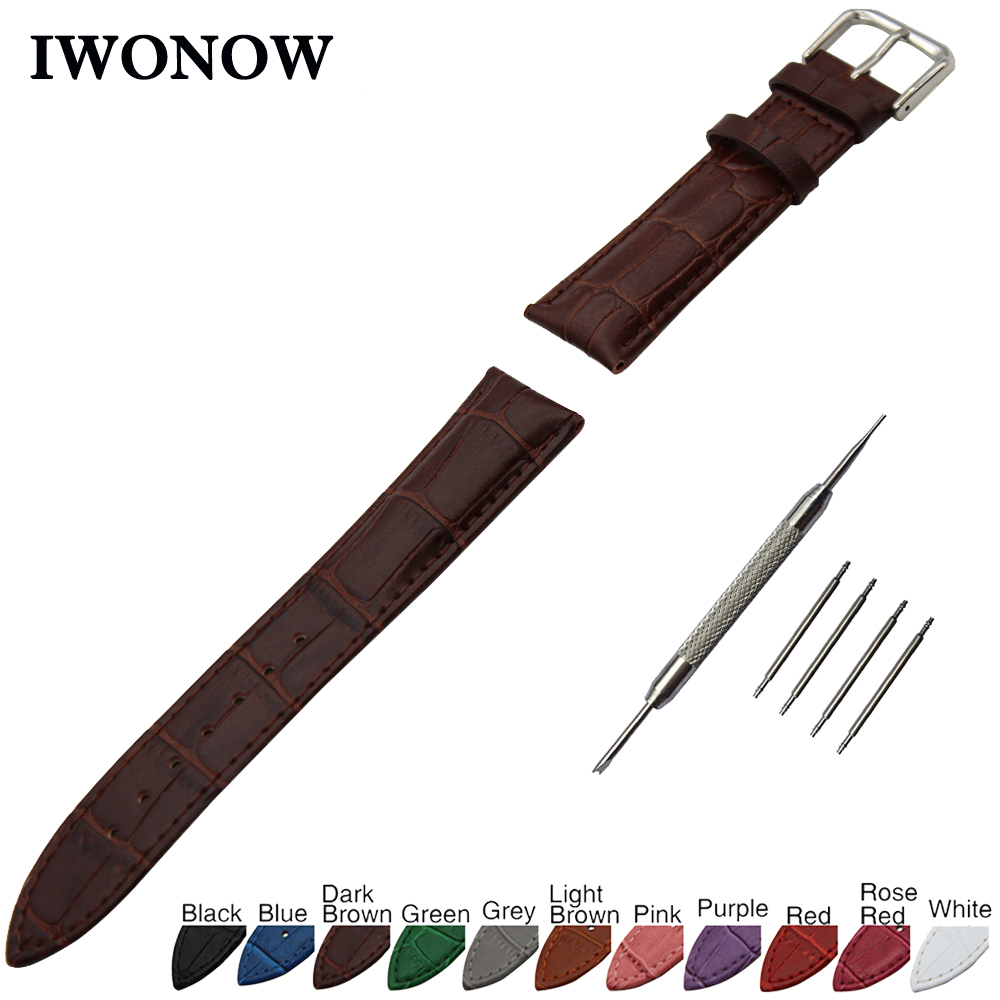 цена на Croco Genuine Leather Watch Band 18mm for Withings Activite / Steel / Pop Stainless Pin Buckle Strap Wrist Belt Bracelet + Tool