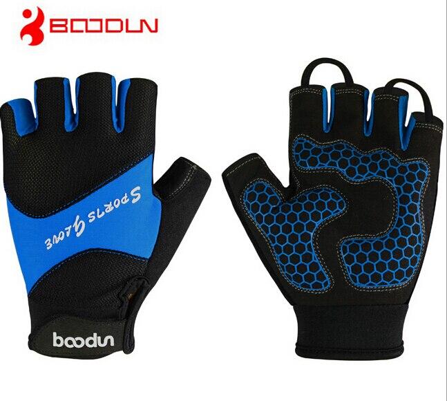 Boodun New Cycling font b Gloves b font Half Finger Men Shockproof MTB Mountain Bike Bicycle