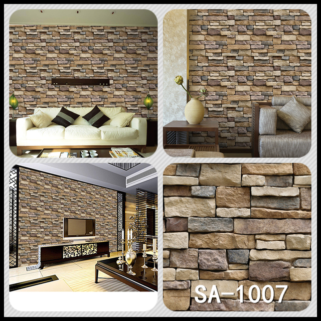 Home Decor 3D PVC Wood Grain Wall Stickers 4