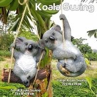 1Pcs Garden Yard Decoration Simulation Koala Swing Statue Animals Sculpture Resin Crafts Home Decoration Ornament|정원 조각상 & 조각품|   -