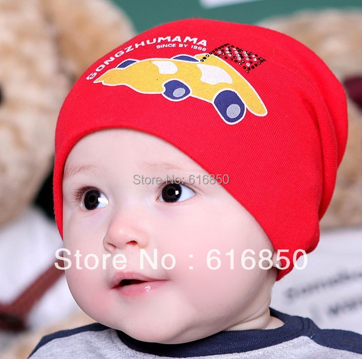 Korean Trendy Baby Knitted Cotton Hat Newborn Hats Racing Car For Baby Boy  Infant Summer Hats Causal Outdoor Sun Hats-in Hats   Caps from Mother    Kids on ... 41548a1fef29