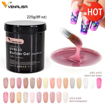 Nail thin Builder Gel 8 oz 225 g extensión francesa uñas 25 colores removedor de barnices led UV puntas 3D pegamento camuflaje gel de uñas