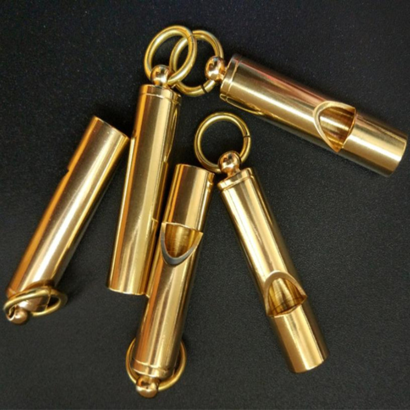 Training Behaviour Pure copper bird training products outdoor rescue whistles treble wild field survival equipment in Bird Training from Home Garden