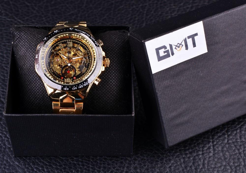 Winner New Number Sport Design Bezel Golden Watch Mens Watches Top Brand Luxury Montre Homme Clock Men Automatic Skeleton Watch 14