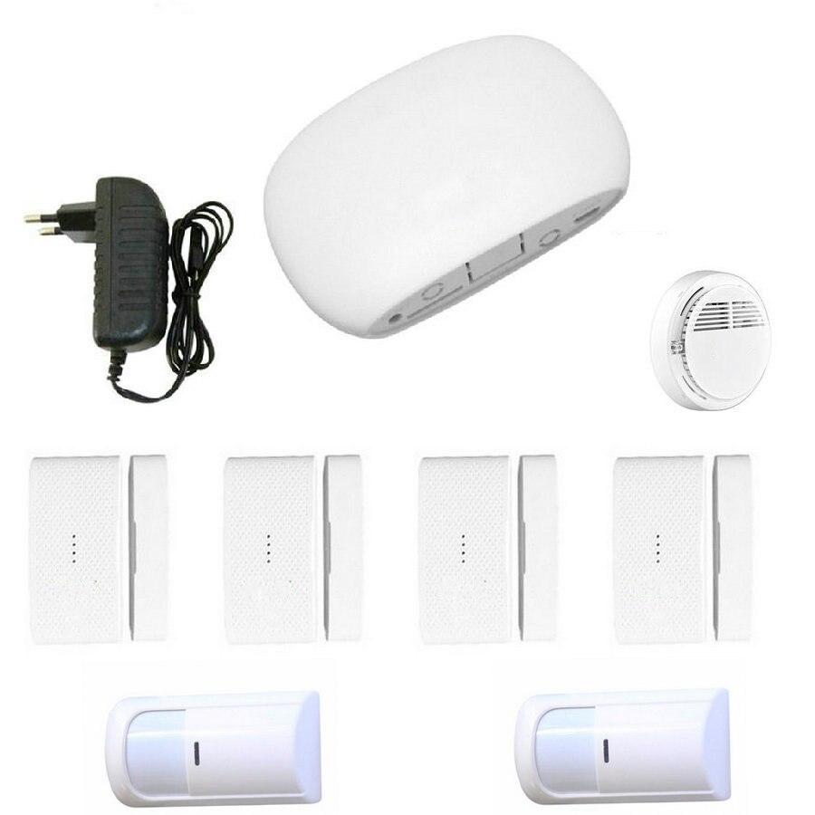 Super Mini WIFI Home Security Alarm System DIY Kit IOSAndroid Smart Phone App PIR Main Panel DoorWindow Sensor Burglar Alarm_3