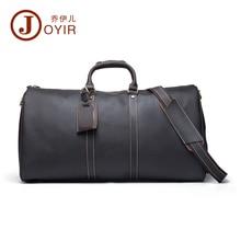 JOYIR Large Genuine Natural Leather Men s Travel Duffle Men Travel bag Laptop briefcase Men business
