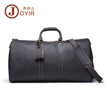 JOYIR Large Genuine Natural Leather Men's Travel Duffle Men Travel bag Laptop briefcase Men business tote handbags Men Bag 6321