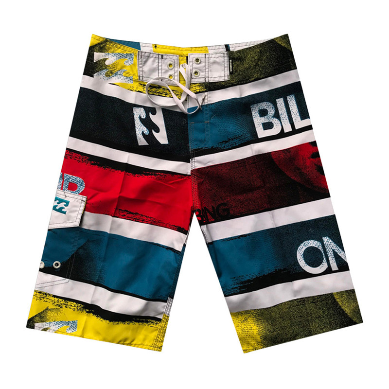 Kids Assorted Solid Board Printed Swimming Trunks Side Split Shorts