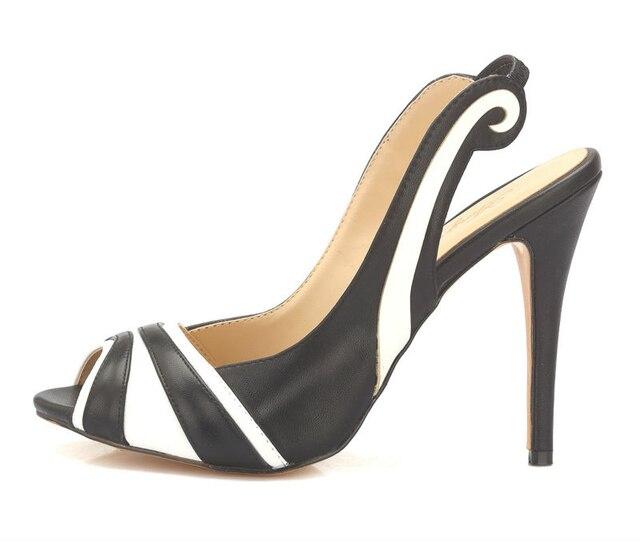 47b5e669c0ae76 Inisastyle 2016 New Fashion Summer stiletto high heel Peep toe ladies  Sandals slip-on slides Customize Women s Shoes big size15