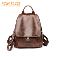 POMELOS Backpack Women 2018 New Arrivals PU Leather Backpack School Bags For Teenage Girls Multi functional Anti Theft Backpack