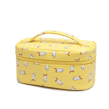2017 New Fashion Brand Exquisite Lovely Cartoon woman Cosmetic bag girl Little ducks cosmetic Storage bag Women Travel Makeup