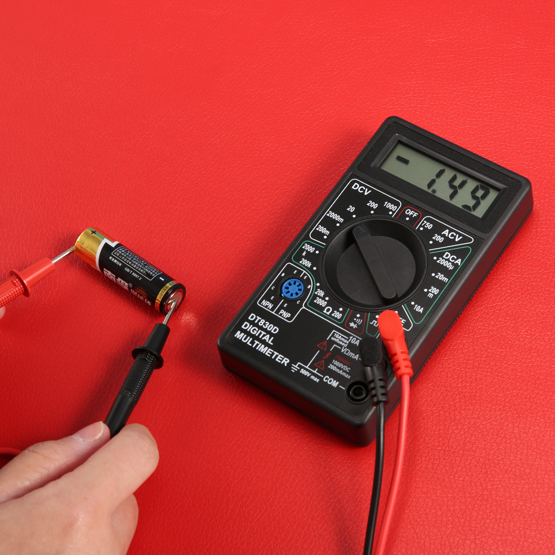 New Style Accessories Digital Multimeter with Buzzer Voltage Ampere Meter Test Probe DC AC LCD