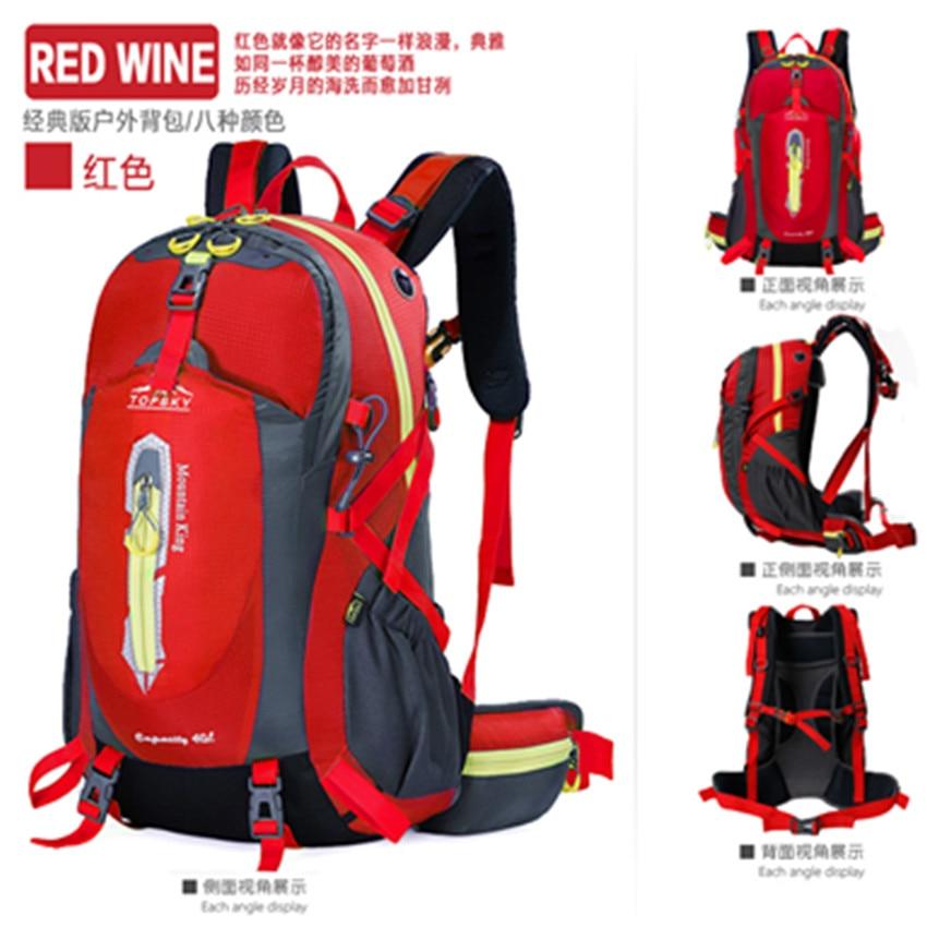 все цены на backpack Outdoor sport travel mountain climbing  climb knapsack camping hiking travel bag 40L 50L packsacks онлайн