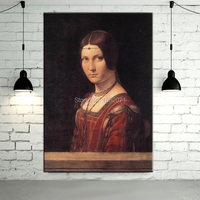 High Skilled Artist Hand painted Reproduction Da Vinci Artwork Portrait of an Unknown Woman Oil Painting For Wall Decorative