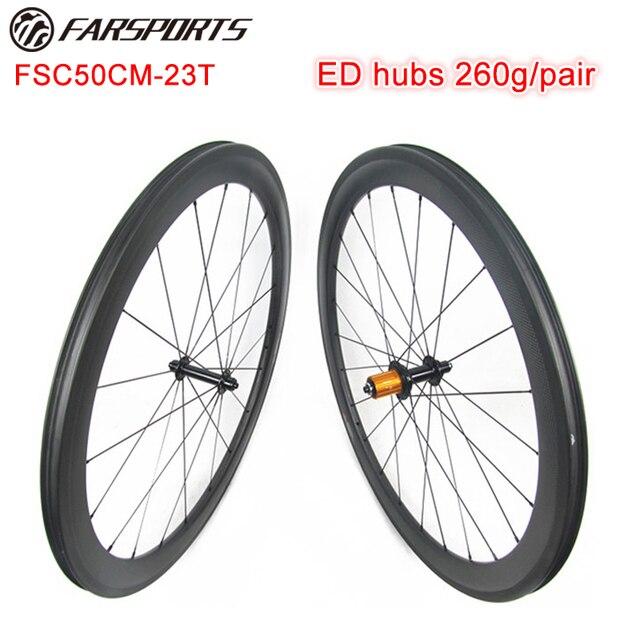14fe7e6c6d6 Farsports carbon wheel 50mm x 23mm clincher bicycle wheelset Edhub Sapim  cx-ray spoke Sils nipple UD Matte