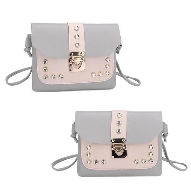 Color Panelled Mini Women Shoulder Bags  3