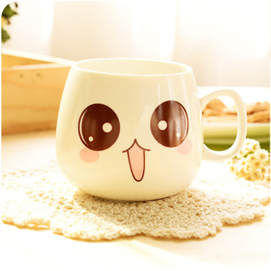 Us 12 4 25 Off Cute Coffee Cupug Cup Bardak Caf With Lid Cartoon Porcelain Enamel Ceramic Mugs Milk Tea Morning Mok Gift 30m049 In