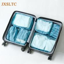 JXSLTC New 6Pcs/set Packing Portable Travel Bags Women Men Clothing Shoe Sorting