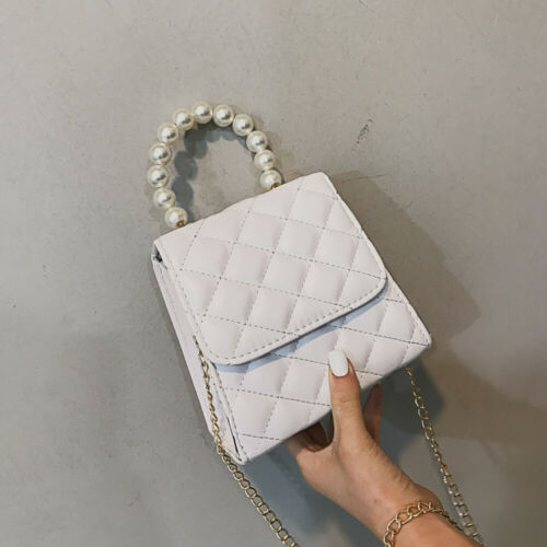 Women Shoulder Bag PU Leather Crossbody Messenger Bag Purse Pearl Women Travel Bag