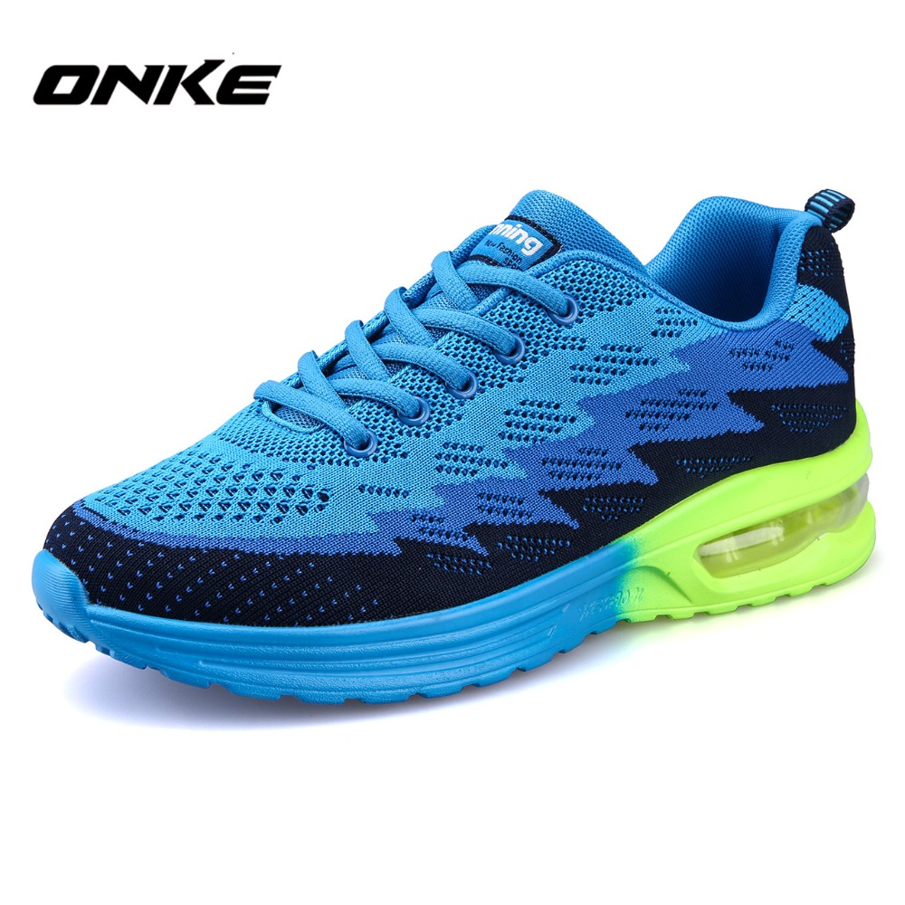 Onke 2017 New Brand Running Shoes Men Women Outdoor Light Sports Shoe Breathable Athletic Training Run Sneakers Gym Runner 2016 new air cushion running shoes for men brand trainers sport shoes breathable athletic sneakers men training runners air