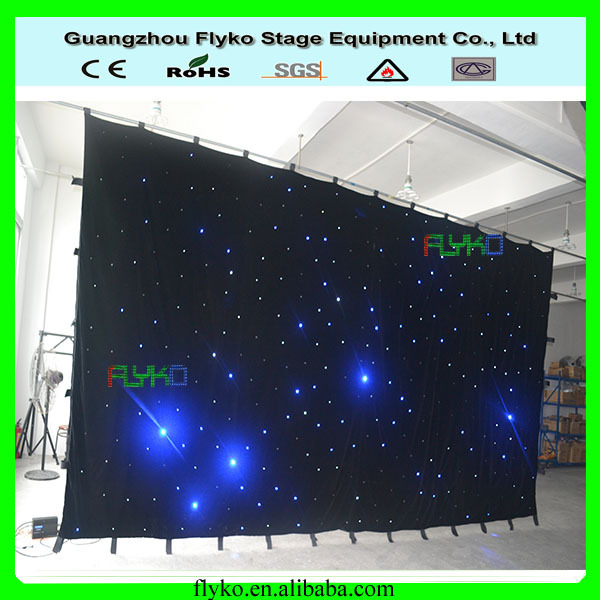 3x6m led star cloth light digital signage 8-10leds every sqaure