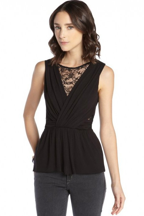 Black-Jersey-and-Lace-Cutout-Sleeveless-Top-LC25188