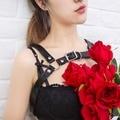 SEXY 100% handmade accessroy para lingerie arreios de couro para as mulheres de couro gothic suspender harajuku acessório de bdsm
