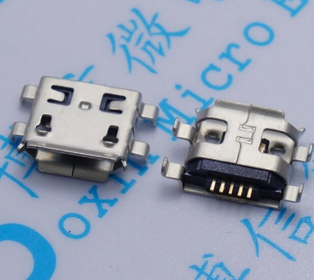 10pcs Micro USB 5pin B type 0.8mm Female Connector For Mobile Phone Mini USB Jack Connector 5pin Charging Socket Four feet plug 10pcs micro usb 5pin b type female connector flat mouth jack 0 8 connector for mobile phone charging socket usb 4